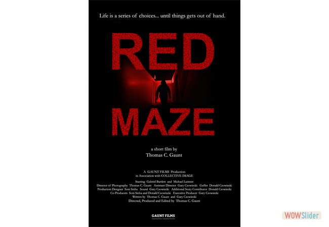 We are prepping RED MAZE for the festival circuit